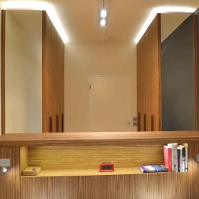 Garderobe zebrano & LED verlichting