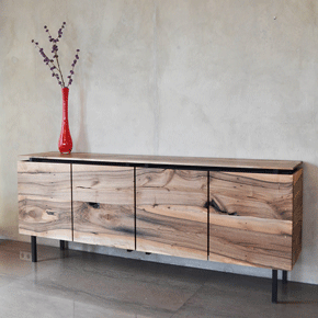 Dressoir gerecycled notenhout